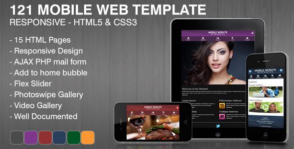 121 Mobile Web Template Mobile