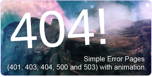 404 - Error Pages Template Specialty Page