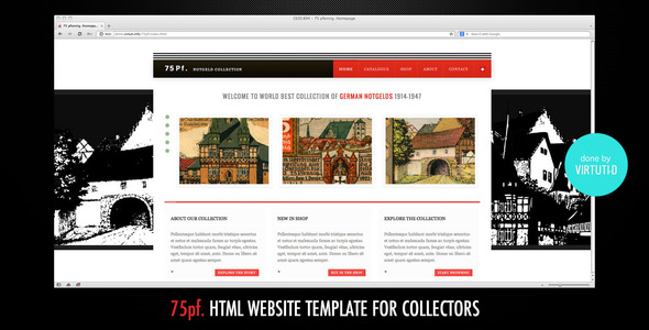 75 PF–Classic Website Template For Collectors Creative
