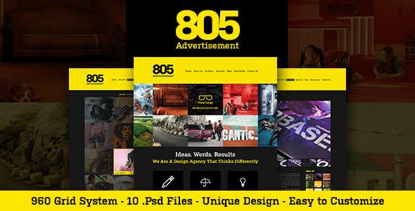 805 PSD Template Creative
