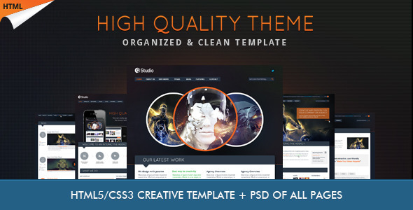 9studio   Creative Unique HTML5 Theme Template Creative