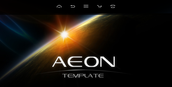 AEON Futuristic Template for Joomla! Creative