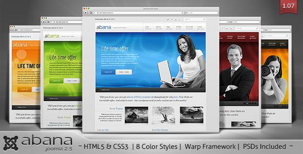 Abana - Premium JomSocial Ready Business Joomla Template Corporate