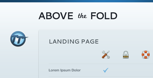 Above The Fold — Compact Landing Page LandingPages Landing Page