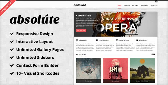 Absolute - Interactive & Responsive WP Theme WordPress