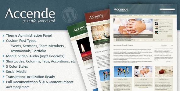 Accende - WordPress Church Theme Nonprofit