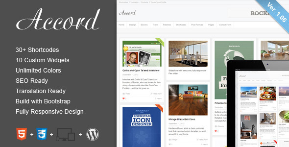Accord - Responsive WordPress Blog Theme Blog/Magazine
