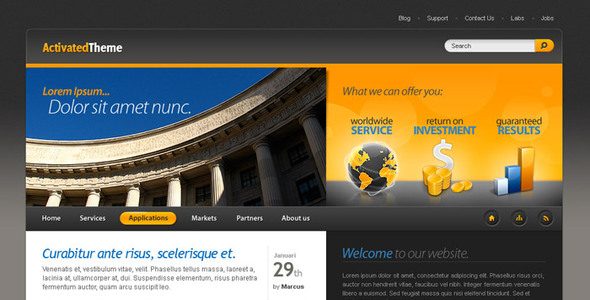 ActivatedTheme Corporate PSDTemplates