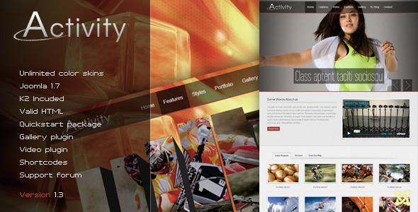 Activity - Premium Joomla Template