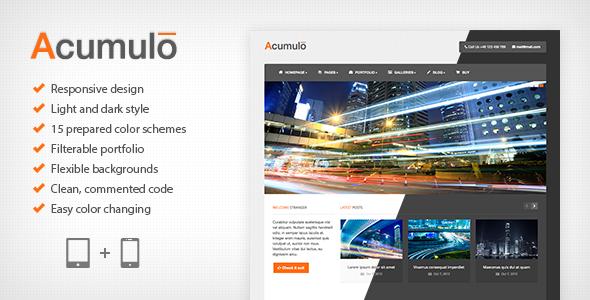 Acumulo HTML - Modern Business Theme Template Corporate