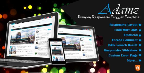 Adamz - Responsive Blogger Template Blogging Blogger