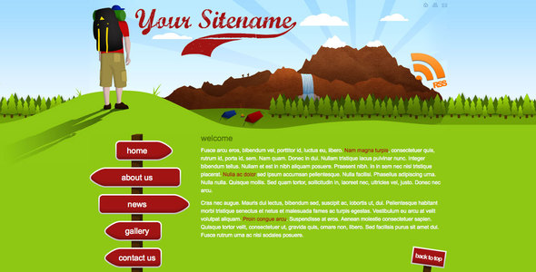 Adventure - Creative Travel, Camping Or Backpacking Site