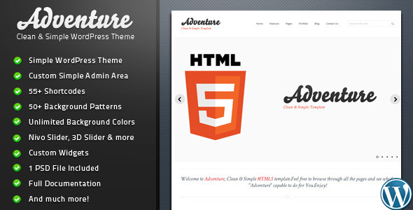 Adventure - Clean & Simple WordPress Theme Corporate