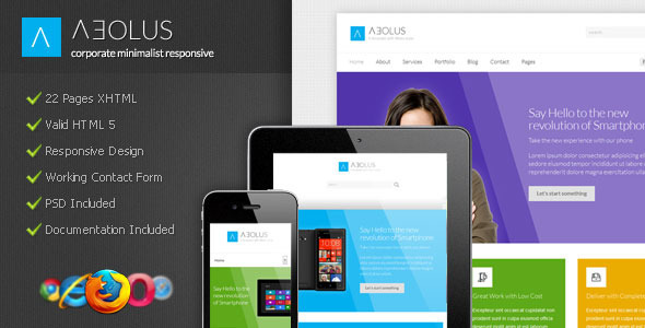 Aeolus - Corporate Minimalist Responsive Template Corporate