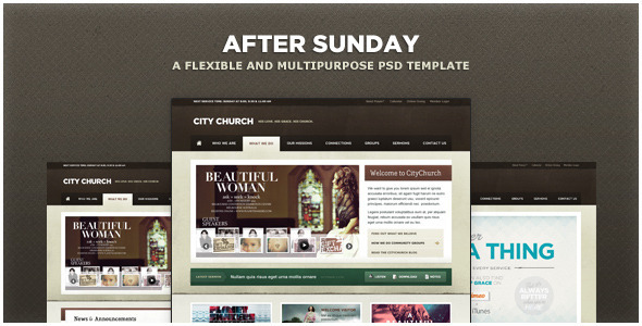 After Sunday Template [PSD] - Flexible and Multipurpose