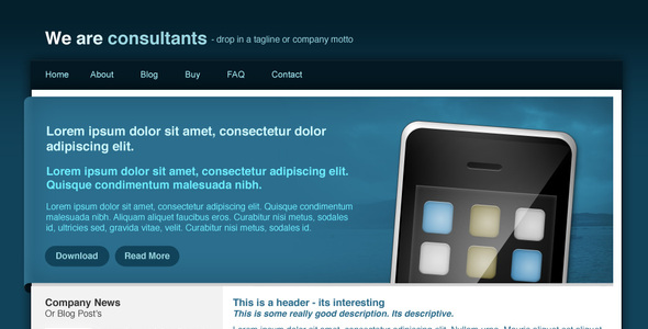 Agency Site - Blue Corporate PSDTemplates
