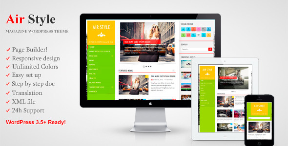 Air Style - Responsive WordPress Magazine Theme Blog/Magazine