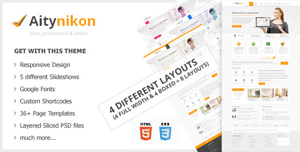 Aitynikon - Responsive Multipurpose Template Corporate