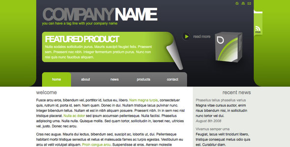 Algae - Sleek, Clean Corporate or Freelance Site