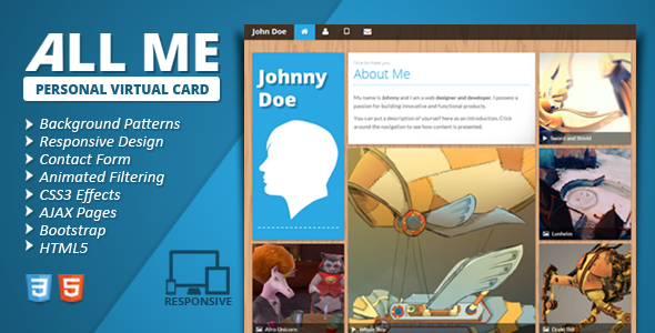 All Me Responsive vCard Template Personal