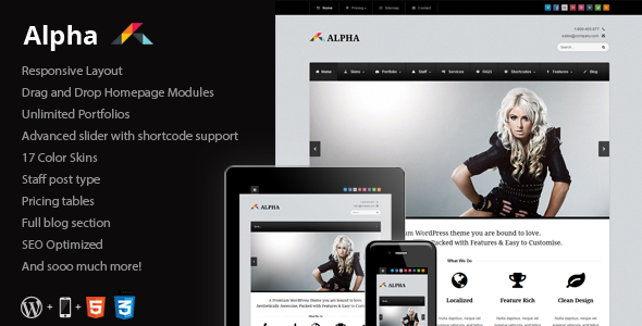 Alpha - Responsive Business WordPress Theme Corporate