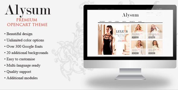 Alysum - Premium OpenCart Theme with Extras Shopping