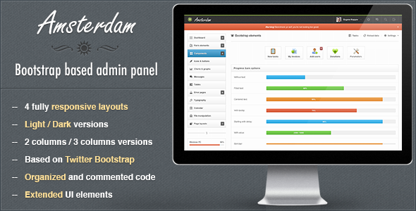 Amsterdam - Premium Responsive Admin Template AdminTemplates