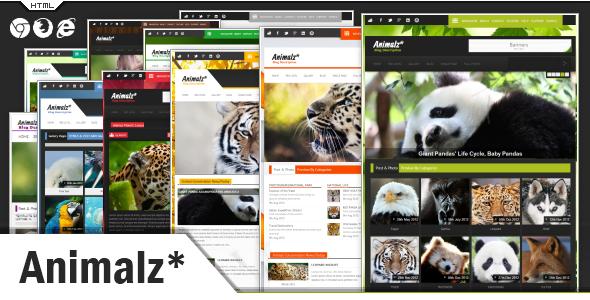 Animalz - Eco/Green Environmental HTML Template Nonprofit
