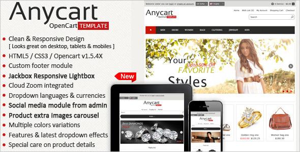 Anycart - Elegant and responsive OpenCart theme