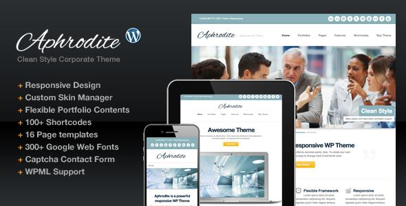Aphrodite Responsive Corporate Business Portfolio WordPress