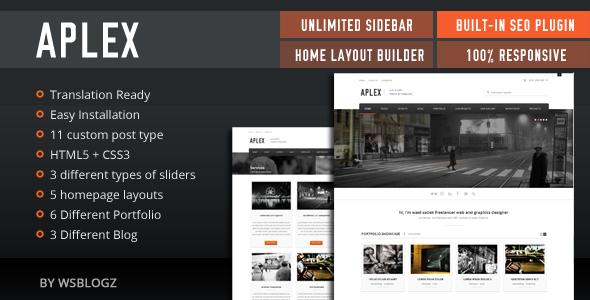Aplex clean & minimal theme WordPress Corporate