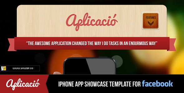 Aplicacio | iPhone App Showcase Facebook Template Corporate