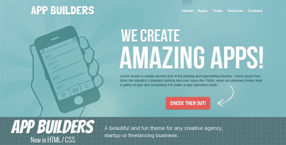 App Builders HTML LandingPages Landing Page