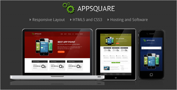 AppSquare - Software and Hosting HTML Template Technology