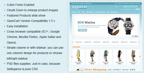 Apparel OpenCart Template