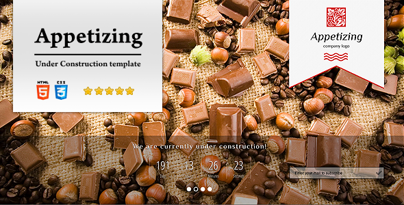 Appetizing Under Construction Template Specialty Page