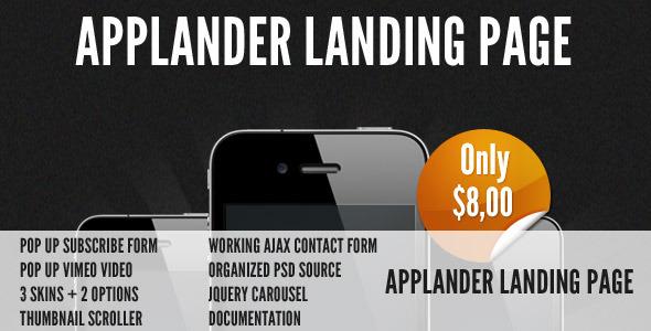 Applander - App Landing Page LandingPages Landing Page
