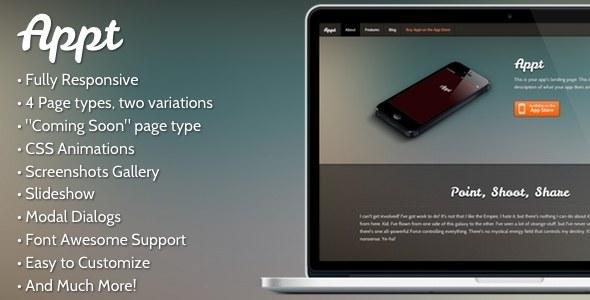 Appt - A Fully Responsive App Landing Page LandingPages Landing Page