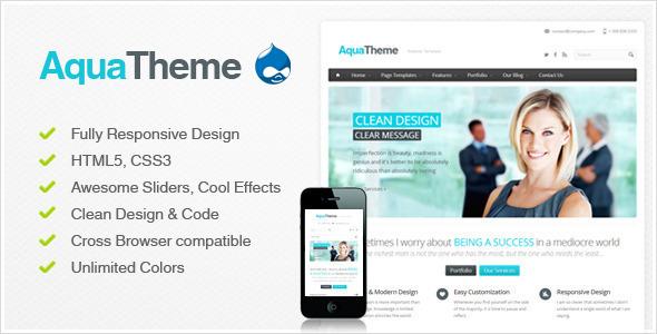 Aqua -  Responsive Drupal Theme Corporate