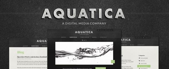 Aquatica Creative PSD Template Creative PSDTemplates