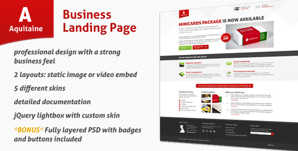 Aquitaine - Business Landing Page LandingPages Landing Page