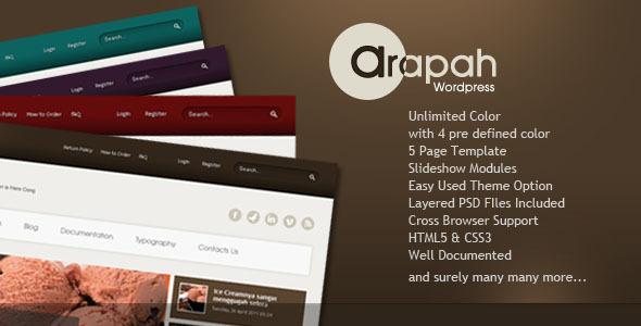 Arapah - Modern Culinary WordPress Themes Retail