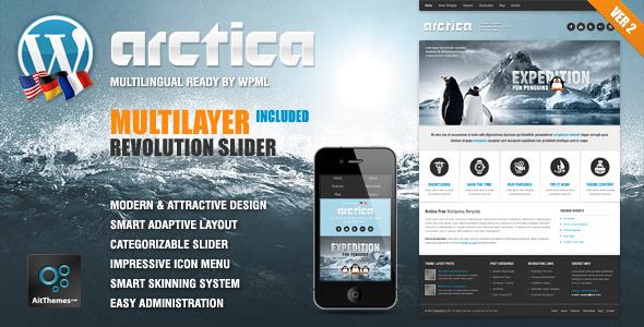 Arctica Responsive Wordpress Theme Retail