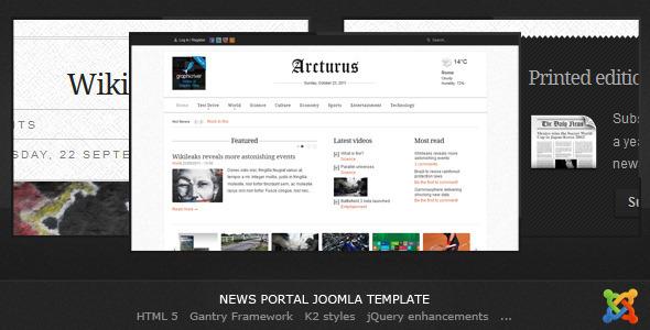 Arcturus - Joomla News Template Blog/Magazine