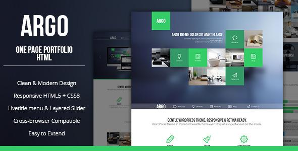 Argo - Modern OnePage Bootstrap Metro UI Template Creative