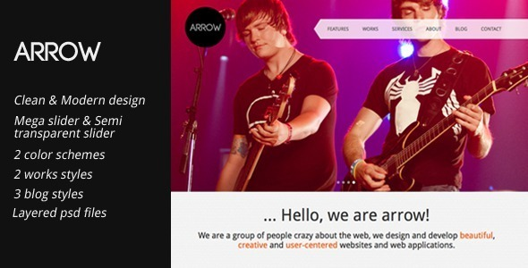 Arrow: Clean and Creative HTML Template Creative