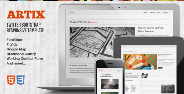 Artix - One Page Responsive Bootstrap Template Creative