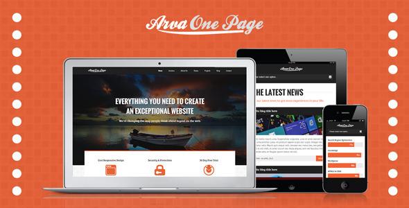 Arva Multi-Purpose One Page Template Creative