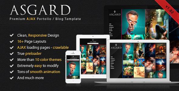 Asgard - Animated AJAX Portfolio and Blog Template Creative