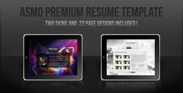 Asmo PSD Premium vCard CV Resume Template Personal PSDTemplates
